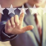 Business key rating increase web icon